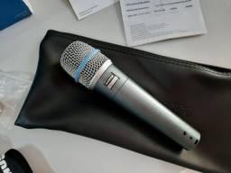 Microfone Shure Beta 57A - Novíssimo!!!