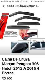 Calha De Chuva Defletor Peugeot 308 12/14 4p Tg Poli 20006