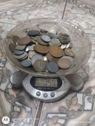 754 gramas Moedas Antigas Estrangeiras