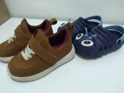 2 calçados infantis número 24