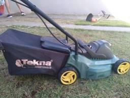 Cortador de grama Elétrico Tekna com coletor de grama