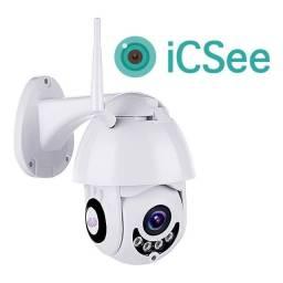Câmera Ip Icsee Infravermelho Externa Wifi Hd Prova D'água Nova
