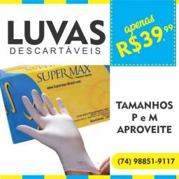 Título do anúncio: Luvas Descartáveis em látex Supermax 39,99