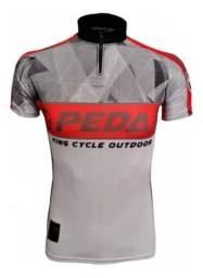 Camiseta Ciclismo G Pedal Bike Mtb King Com Bolso Proteçao Uv