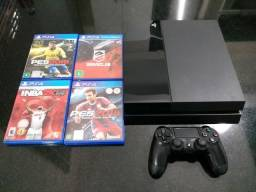 Ps4 completo 500 gb + 4 jogos