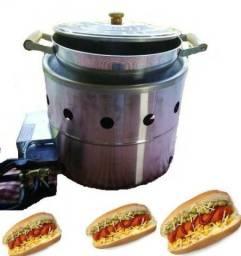 Estufa a vapor - aquecedora de pão de cachorro quente - hot dog pão quente,