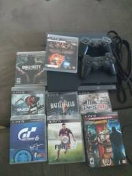 Playstation 3 - 12 jogos - 2 controles
