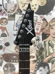 Guitarra cort x1 - preto fosco - com capa