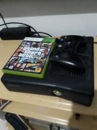 Xbox 360 Slim + Gta V Original Divido no Cartão