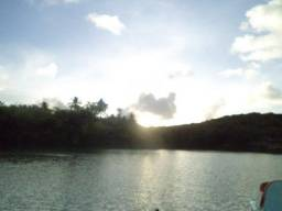 Sitio na beira da lagoa azul de itamaracá
