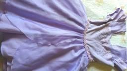 Vestido de festa Princesinha Sofia tamanho 16