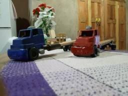 Mini caminhões de brinquedos