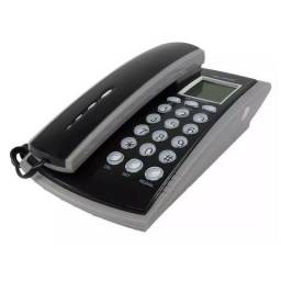 Aparelho Telefone Identificador Chamadas Fixo Com Fio