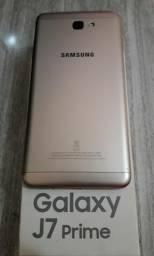 J7 prime dourado- 32GB, leitor digital