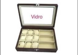 bd60c7d724401 Estojo Maleta Porta Relógios E Óculos 9 3 - Visor De Vidro