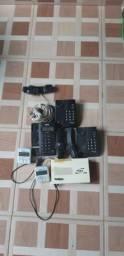 Vendo pabx 3 telefones