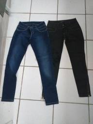 43a90e414 Calças jeans usadas apenas 1 vez