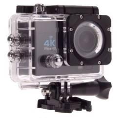 Câmera Action Sport Pro Wi-fi Lcd 4k 1080p Prova D'agua