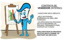 Emprego para Vendedor (Interno)