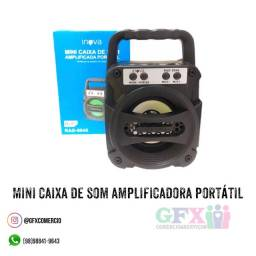 Mini caixa de som amplificadora