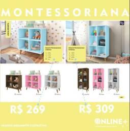 Estante Montessoriana 4 nichos