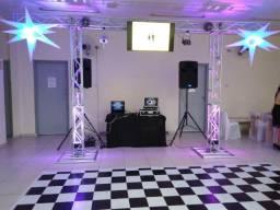Box Trus para Iluminação + Pista de Dança 4x4