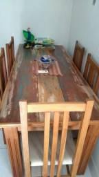 Mesa 2m por 80cm madeira macica.acabamento diferenciado