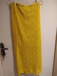 Saia amarela tricô