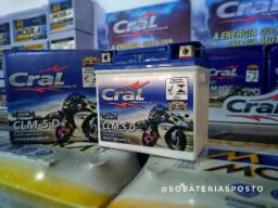 Bateria para Motos, nova com garantia, da marca Cral 5ah
