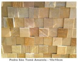 Mosaico de Pedra São Tomé Variado 3D Revestimento Natural Promoção Magnifique