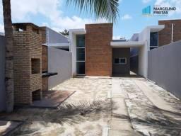Casa Plana com 3 quartos à venda, 89 m² por R$ 275.000 - Urucunema - Eusébio/CE