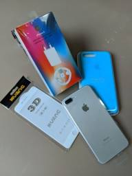 Título do anúncio: Iphone 7 Plus 128gb Prata, NOVO!!!