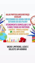 Título do anúncio: Aulas particulares de reforço escolar