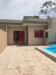 Casa nova com piscina, 300m do mar