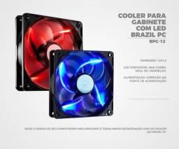 Título do anúncio: Cooler Gabinete Brazilpc 120MM Led Duplo - Loja Dado Digital