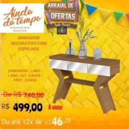 ARRAIAL DE OFERTAS / APARADOR PARA SALA COM ESPELHOS