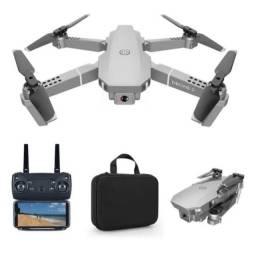 Drone Zangão E68 Pró Última Geração Silver 1080p box wi fi
