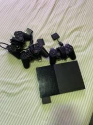 PS2 com 3 Controles