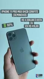 Título do anúncio: iPhone 11 Pro Max 64GB Grafite (Seminovo)