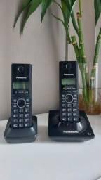 Título do anúncio: Telefone sem fio Panasonic com 1 ramal