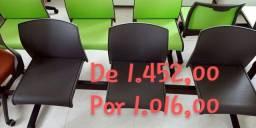 Cadeiras novas flexform na promoção