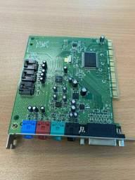 placa som pci 4ch creative sound blaster ct4750 p/desktop PC micro etc aceito cartão-pix