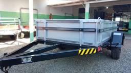 Carretinha Fazendinha Especial (1 Ton.) 1,30 x 2,20m - Reboque Zero KM