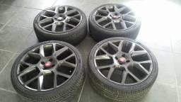 Rodas aro 18 com pneus pouco rodado
