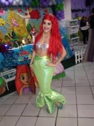 Ariel A Pequena Sereia - Personagem Vivo