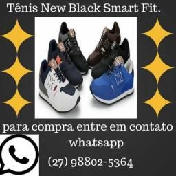 Tênis New Black Smart Fit. Para Treino, Academia, Correr, Caminhar, Fitness e Dia a Dia