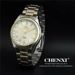Relógio Prata / Dourado Chenxi !!! Unissex Importado