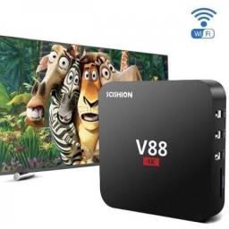 Tv Box Scishion V88 4K / Android 6.1 Quad / Transforme sua TV em Smart TV