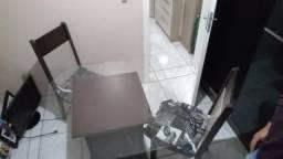 Mesa de jantar vidro 4 cadeiras