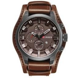 f6f9951933b Relógio Curren de Couro Com Dupla Pulseira Confortável À Prova D água 100%  Novo